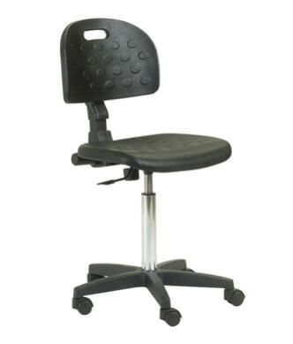 Medical stool / height-adjustable / on casters / with backrest 6301 CARINA