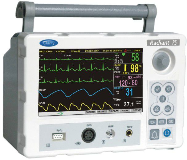 Compact multi-parameter monitor / transport RADIANT P5 Clarity Medical