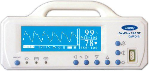 Handheld pulse oximeter / with separate sensor OXYPLUS 240ST Clarity Medical