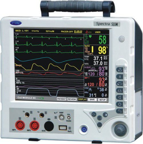Compact multi-parameter monitor / transport SPECTRA SLIM Clarity Medical