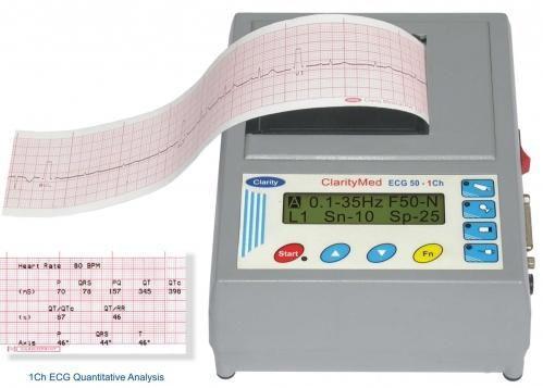 Digital electrocardiograph / 1-channel ECG 50 Clarity Medical
