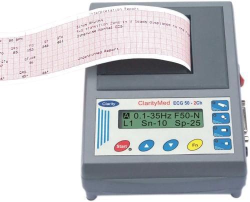 Digital electrocardiograph / 2-channel ECG 50 Clarity Medical