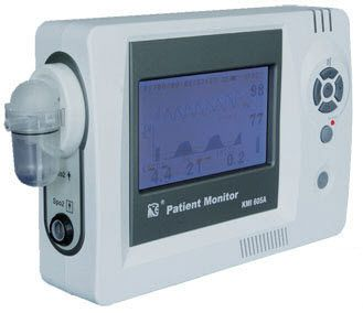 Table-top pulse oximeter / with separate sensor / with capnograph KMI605A Vales & Hills BioMedical Tech.