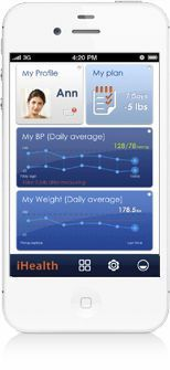 Patient data management iOS application MyVitals iHealth
