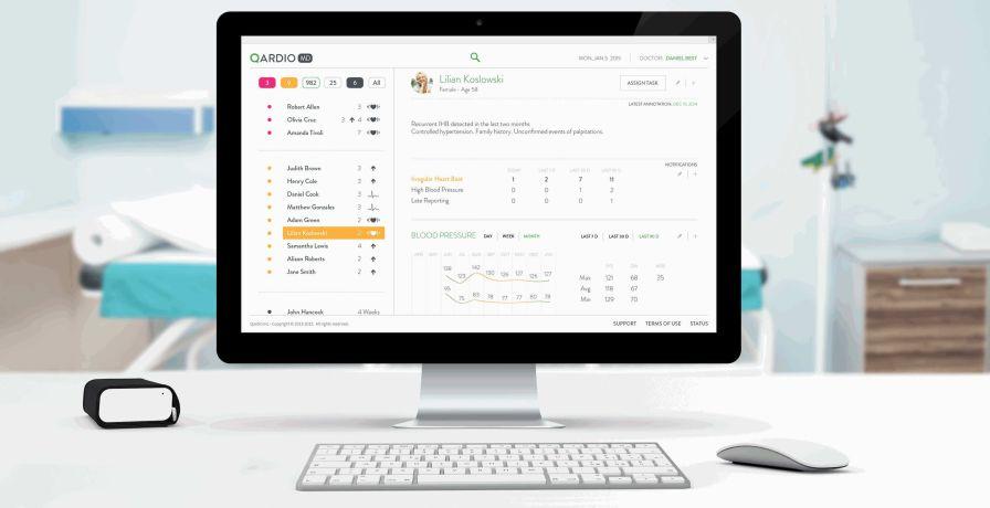 Management software / monitoring / medical / ECG QardioMD Qardio