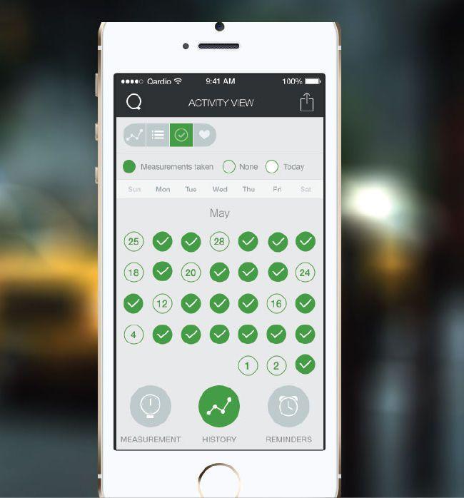 Monitoring iOS application / medical / for blood pressure monitors Qardio app Qardio