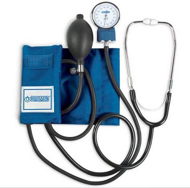 Cuff-mounted sphygmomanometer / with stethoscope 0 - 300 mmHg | BD2600 Bremed