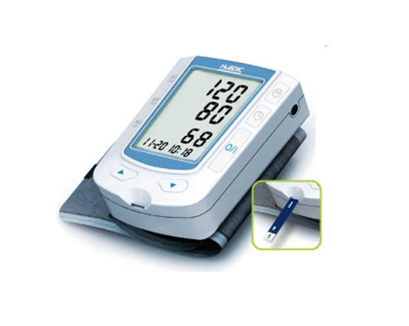 Automatic blood pressure monitor / electronic / wrist / with blood glucose meter 20 - 300 mmHg, 20 - 199 bpm | HMF100 HuBDIC
