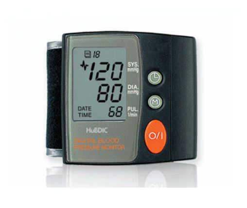 Automatic blood pressure monitor / electronic / wrist 20 - 300 mmHg, 40 - 199 bpm | BP100 HuBDIC