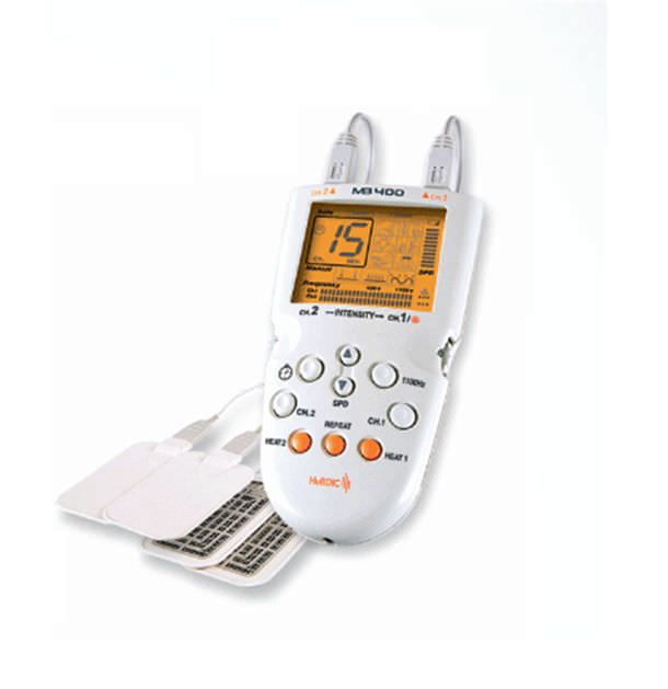 Electric massage pad (physiotherapy) / hand-held / 2-channel 1 - 1100 Hz | MB-400 HuBDIC