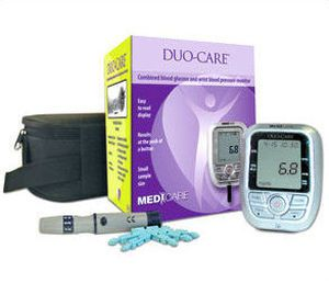 Automatic blood pressure monitor / electronic / wrist / with blood glucose meter BGP-100 L-Tac Medicare Pte