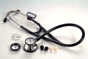 Dual-head stethoscope / cardiology / stainless steel Tytan403 Tytan Medical