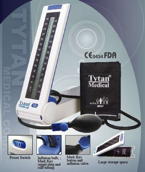 Semi-automatic blood pressure monitor / electronic / arm 300 mmHg - A830 Tytan Medical