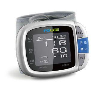 Automatic blood pressure monitor / electronic / wrist 0 - 280 mmHg, 40 - 199 bpm | DX-W1 Jiangsu Folee Medical Equipment