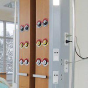 Bed head unit with light / vertical Zaniah Tedisel Medical