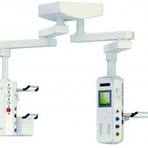 Ceiling-mounted double medical pendant / articulated / with column Tedisel Medical