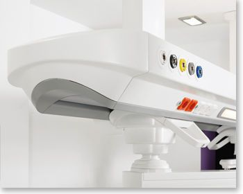 Ceiling-mounted supply beam system / with shelves Abitus Tedisel Medical