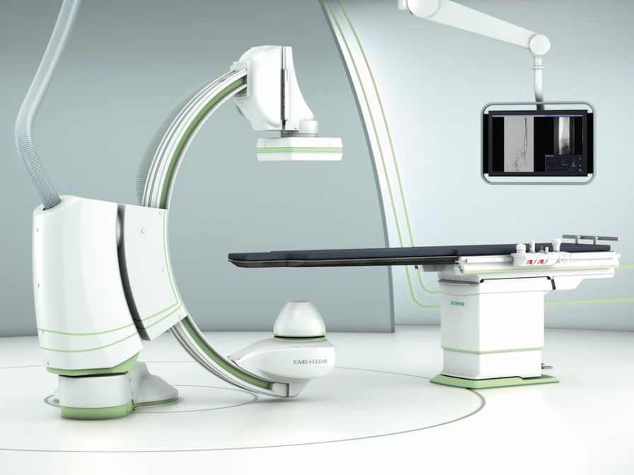 Fluoroscopy system (X-ray radiology) / for diagnostic fluoroscopy / with C-arm Artis one Siemens Healthcare