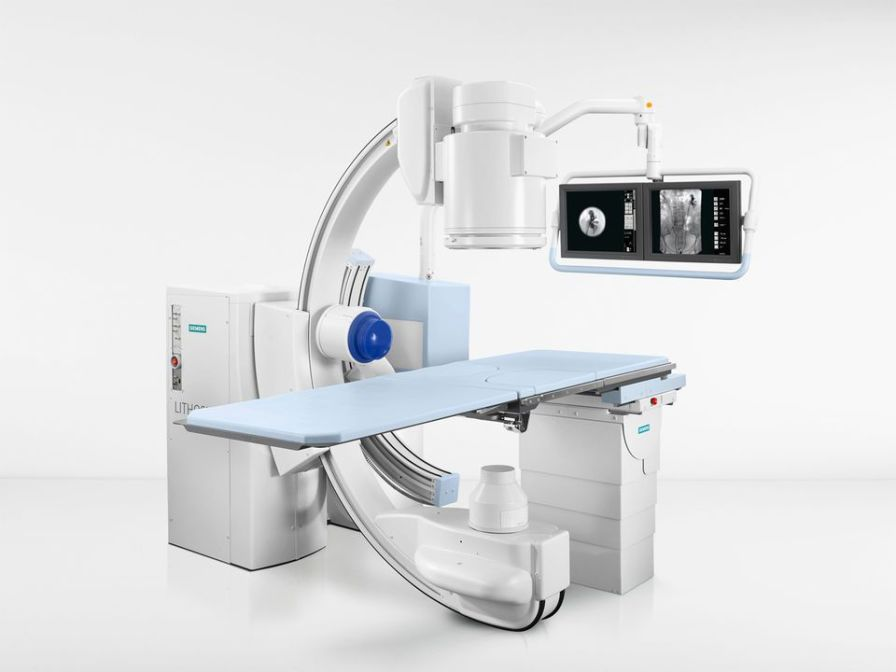 Extracorporeal lithotripter / with C-arm / with lithotripsy table Lithoskop Siemens Healthcare
