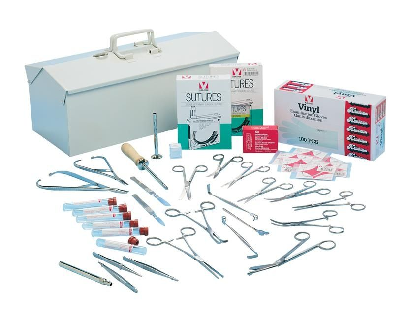 Veterinary surgery instrument kit 140820 Kruuse