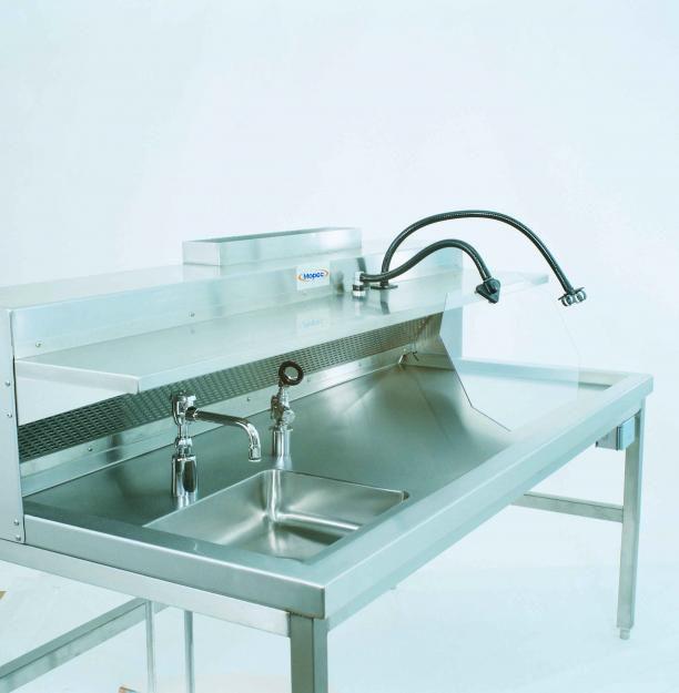 Macroscopy workstation / with backdraft ventilation / 1-station HH100 Mopec