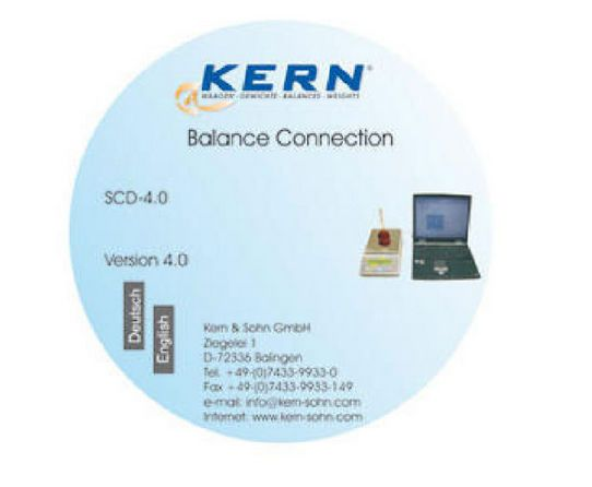 Data management software / laboratory Balance Connection KERN & SOHN