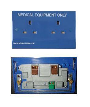 Medical outlet B213SIPS, B113SIPS Starkstrom