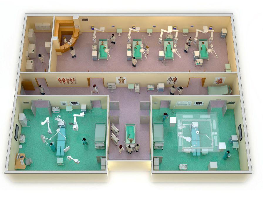 Operating room / modular Starkstrom