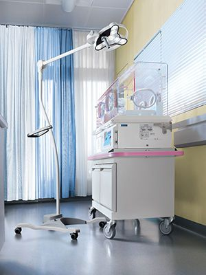 Minor surgery examination lamp / halogen / on casters 55 000 lux | TRIANGO Waldmann