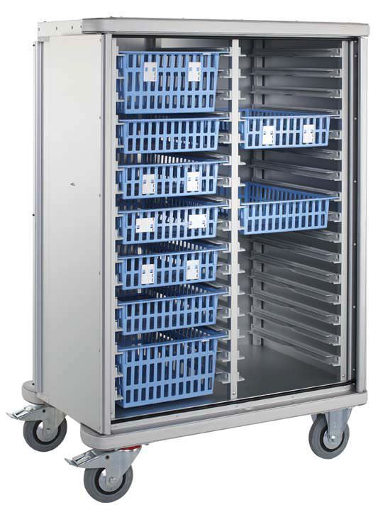 Storage trolley / transport / with basket / modular ZARGES
