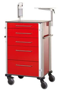 Emergency trolley / multi-function / 5-drawer ZARGES