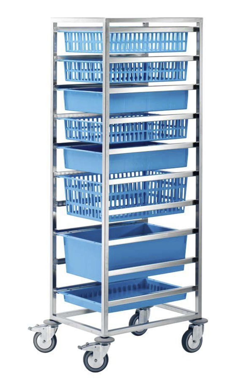 Storage trolley / with basket / open-structure 46091 ZARGES