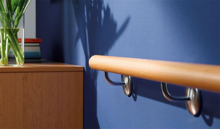 Wall-mounted grab bar 40 cm, 80 cm, 120 cm wissner-bosserhoff