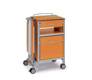 Bedside table / on casters / with over-bed tray stylo C3 wissner-bosserhoff