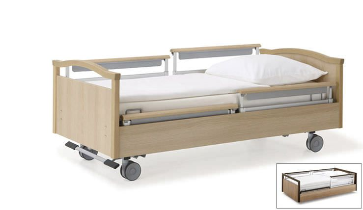 Homecare bed / electrical / on casters / height-adjustable sentida 06 wissner-bosserhoff