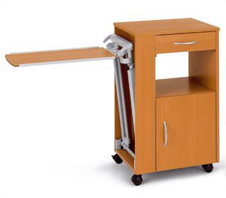 Bedside table with over-bed tray / on casters vitalia VT4 wissner-bosserhoff