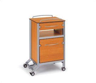 Bedside table / on casters stylo C2 wissner-bosserhoff