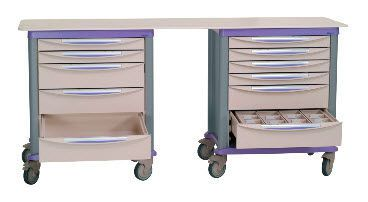 Healthcare facility worktop / with drawer / on casters ADAPTIS 1000.92 VILLARD