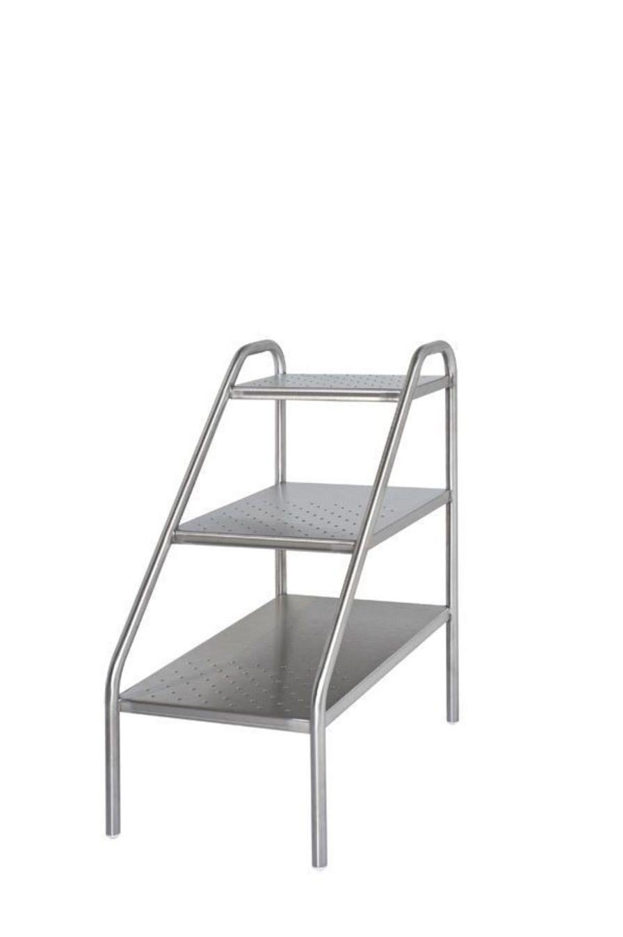 3-step step stool / stainless steel 306.54 VILLARD