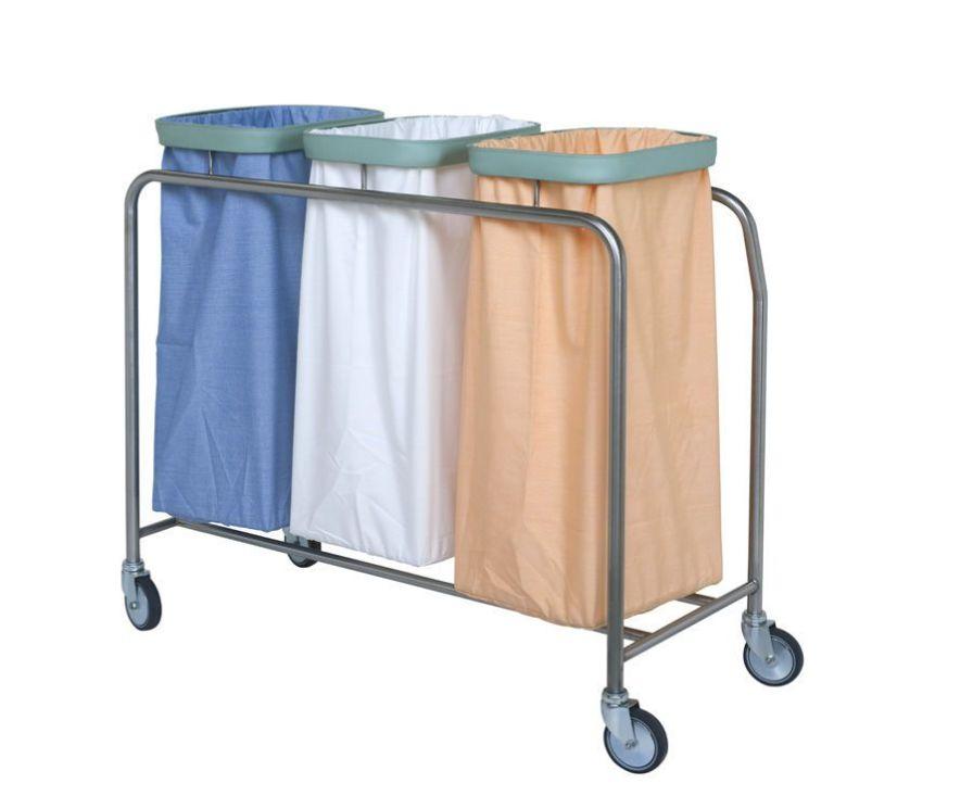 Waste trolley / linen / 3-bag 415.64, 415.65 VILLARD