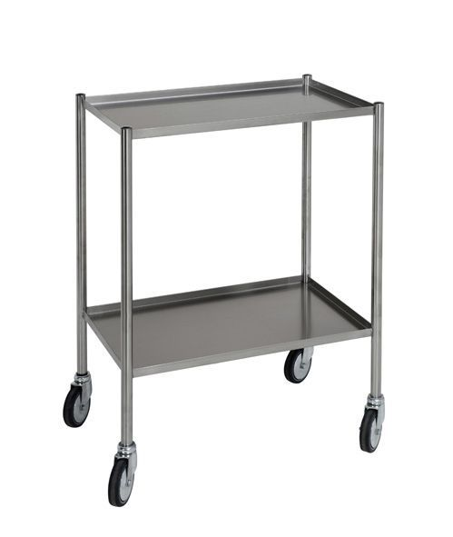Treatment trolley / stainless steel / 2-tray 312.09 VILLARD