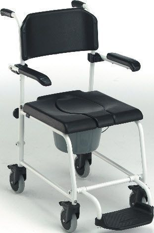 Shower chair / on casters / with bucket 104.56 VILLARD