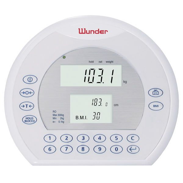 Electronic patient weighing scale / class III / with mobile display / with BMI calculation RO, RO-M WUNDER
