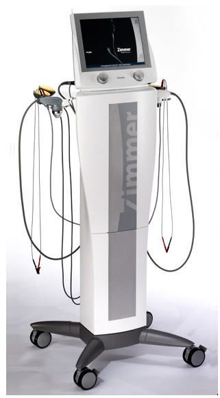 Electro-stimulator (physiotherapy) / ultrasound diathermy unit / on trolley / TENS PhySys Zimmer MedizinSysteme