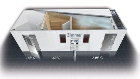 Cryotherapy chamber - 110 °C | icelab Zimmer MedizinSysteme