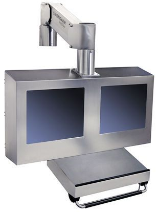 Stainless steel monitor support arm VertiMax Strongarm