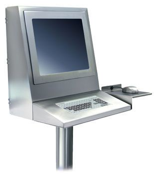 Medical monitor support arm / with keyboard arm Pedestal Station Strongarm