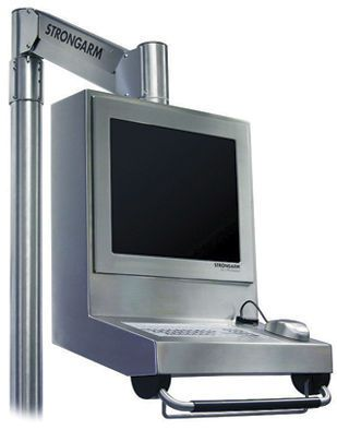 Medical monitor support arm / wall-mounted / with keyboard arm MiniStation Strongarm