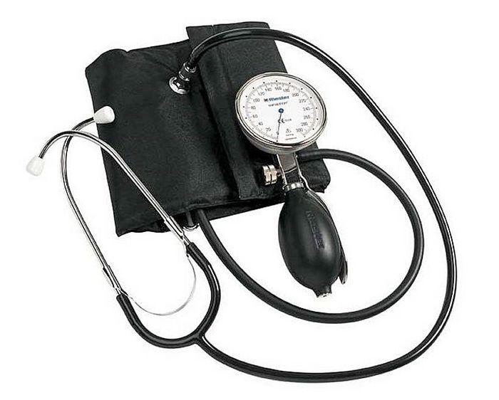 Hand-held sphygmomanometer / with stethoscope 0 - 300 mmHg | sanaphon® Rudolf Riester