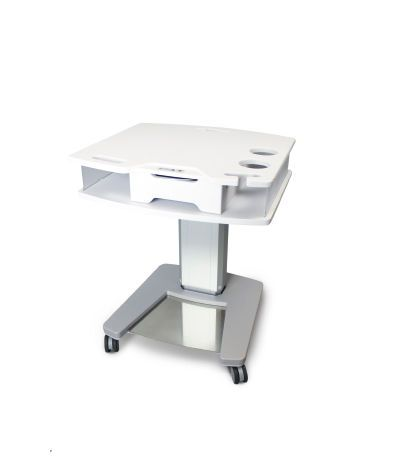 Electric ophthalmic instrument table / height-adjustable / on casters TTUD-1000 Tomey
